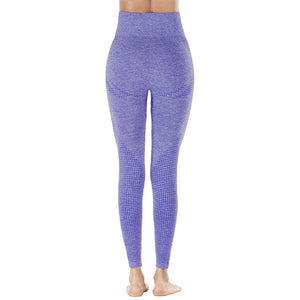 Seamless Women  High Waist Exercise Leggings