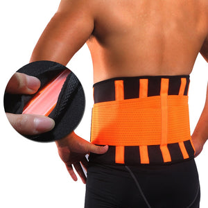 Women Men Waist Trimmer Belt Lumbar Back Support Brace Fitness Weightlifting Belt Adjustable Abdominal Elastic Waist Trainer