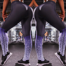 Load image into Gallery viewer, Printed Slim Fitness Leggings  Push Up Printing Patchwork