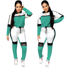 Load image into Gallery viewer, 2Pcs Autumn Winter Women Long-Sleeved Sweater Top Joggers Pants Suit