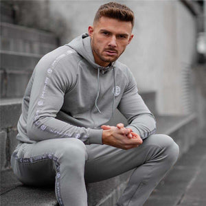 Men's Sets Two-Piece Sportswear Running Suit  Hoodies+Trousers