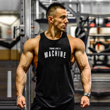 Load image into Gallery viewer, Mens Gym Tank Top Bodybuilding Sleeveless Shirt Cotton Print Muscle Vest