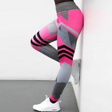 Load image into Gallery viewer, Women High Waist Leggings Push Up Pants Fitness Gothic Patchwork