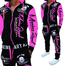 Load image into Gallery viewer, ZOGAA  Men Tracksuit Tops and Pant Letter Printed Suit