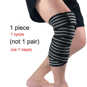 WorthWhile 1 PC Weightlifting Elastic Bandage Kneepad Protective Gear Knee Wraps Support Pad Brace