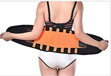 Load image into Gallery viewer, Women Men Waist Trimmer Belt Lumbar Back Support Brace Fitness Weightlifting Belt Adjustable Abdominal Elastic Waist Trainer