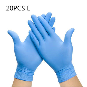 50 Pieces Of Disposable Latex Thick Gloves  Medical Laboratory Latex