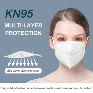 50-1pcs N95 FFP2 Mask Particulate Respirator Protective Safty Mouth Face Mask