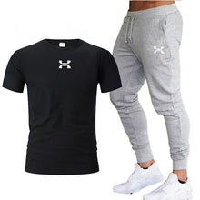 Load image into Gallery viewer, Pants Men Sweatpants+men running t-shirts men sets  Sportswear