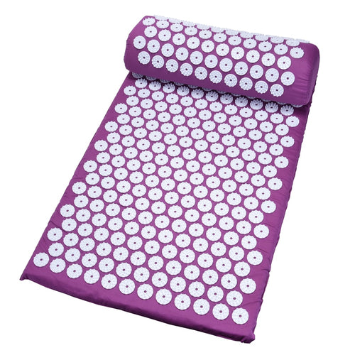 Hot Massager 26*17 inch Massage Mat Acupressure Relieve Back Body Pain Relax Spike Yoga Mat with Pillow