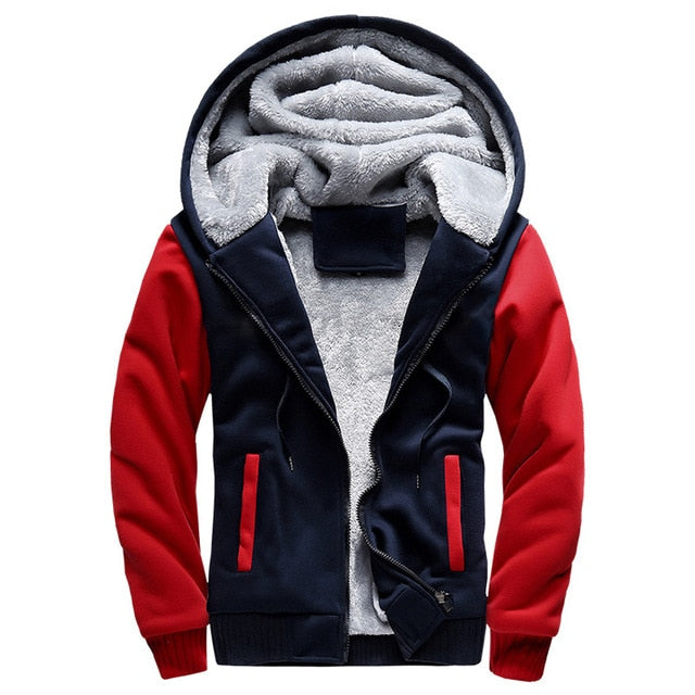 Bomber Jacket Men 2018 New Brand Winter Thick Warm Fleece Zipper Coat  European Hoodies