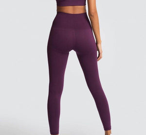 seamless hyperflex workout set sport leggings and top set yoga outfits for women sportswear athletic clothes gym