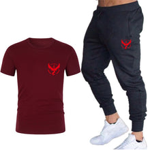 Load image into Gallery viewer, T-Shirts + Pants Men's Summer Short Sleeve T Shirts Hip Hop Tops Suit Set
