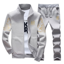 Load image into Gallery viewer, Autumn Tracksuit Men Sportswear Fashion Set Two Pieces Zipper Warm Sweatshirt Jacket+Sweatpants Moleton Masculino