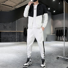 Load image into Gallery viewer, Patchwork Hip Hop Casual Men's Sets Korean Style 2 Piece Sets Clothes Men Streetwear Fitness Male Tracksuit
