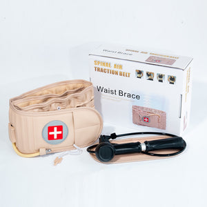 1set Waist Air Traction Brace Belt Spinal Lumbar Support Back Relief Belt Backache Pain Relief Massager