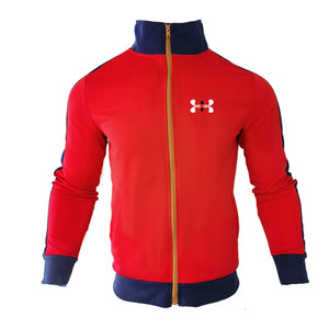 Sports Brand  New Suit Men's Stitching Fashion Casual Track Suit Polyester Fabric Zipper Cardigan Sportswear & Sports Pants
