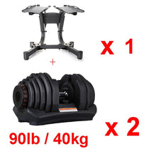 Load image into Gallery viewer, Adjustable Dumbbell Set  90lb /40kg Workout Weights Exercise Gym Fitness Equipment