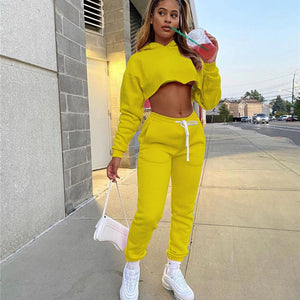 hirigin 2020 Autumn Winter Tracksuit Sweatshirts Tops and Pants Two Piece Women Trousers Casual Sportwear Matching Set