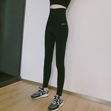 Load image into Gallery viewer, High waist tights ninth women yoga pants Fitness gym workout seamless sports leggings Black running activewear