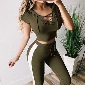 Two Piece Set Women Outfits Crop Top And Pants Outfits Sweat Suits Loungewear Joggers Womens Set Tracksuit Sportwear