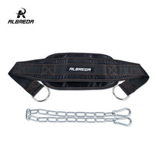 Load image into Gallery viewer, ALBREDA Fitness Equipment Dumbbells Weight Lifting Belt, Dip belt Strength