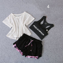 Load image into Gallery viewer, 3 PCS Set Women's Yoga Suit Fitness Clothing  Sportswear