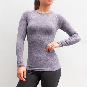 Woman Sport Shirt Yoga Top-Seamless Long Sleeve