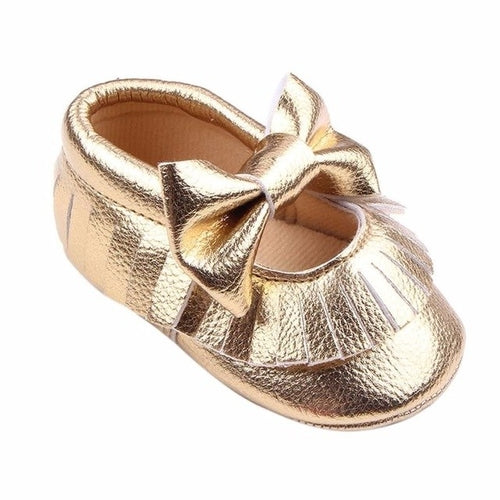 The Metallic Bow Moccasins