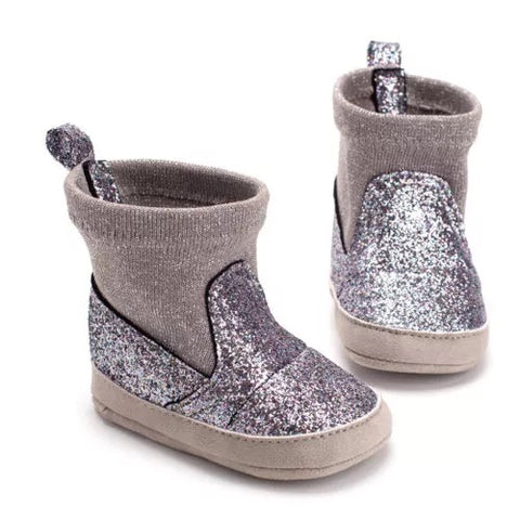 The Silver Sparkle Boots