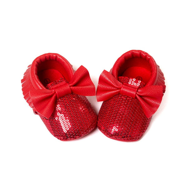 The Shiny Bow Moccasins