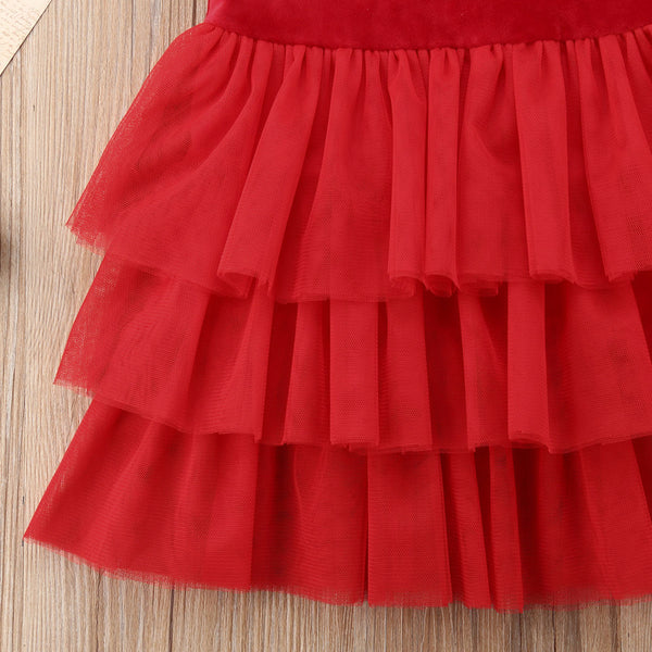 The Simple Red Velvet Dress