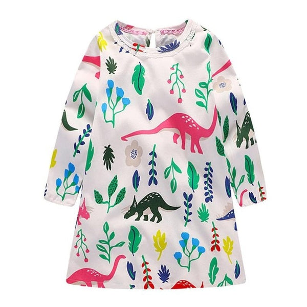 The Colorful Dinosaur Dress
