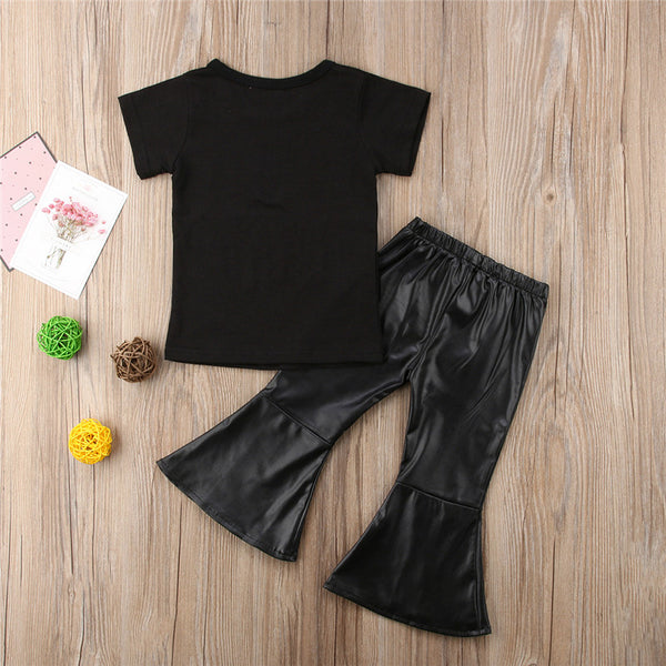The Princess of Leather Bell Bottoms Set