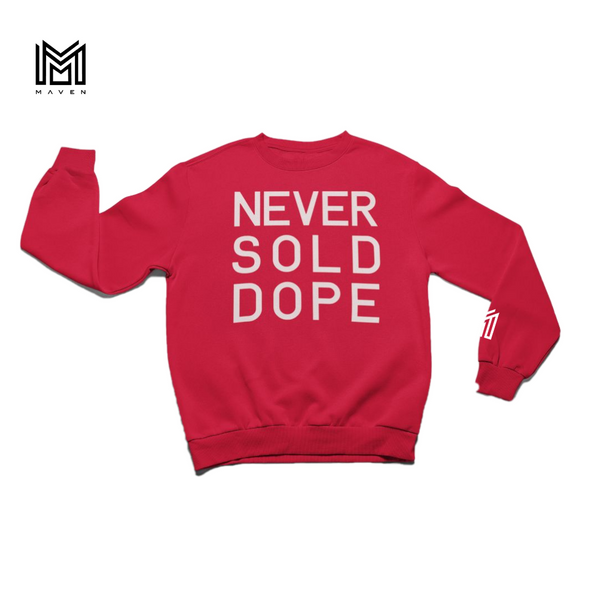 Never Sold Dope Red Crewneck Sweatshirt