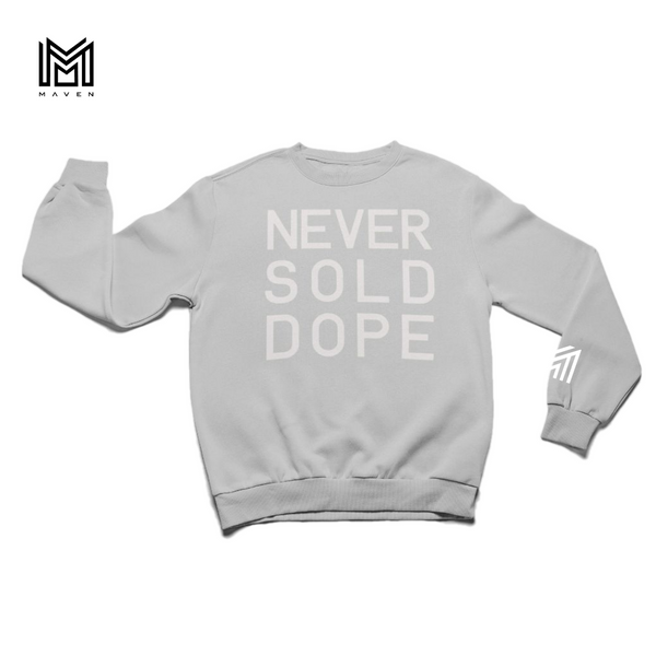Never Sold Dope Heather Grey Crewneck Sweatshirt