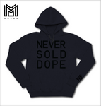 Never Sold Dope Black On Black Pullover Hoodie