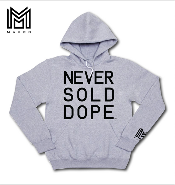 Never Sold Dope Heather Grey Pullover Hoodie