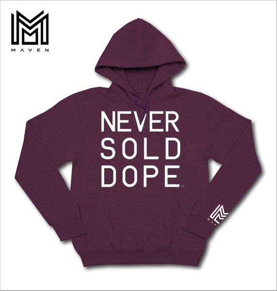Never Sold Dope Maroon Pullover Hoodie