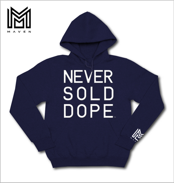 Never Sold Dope Navy Blue Pullover Hoodie