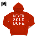 Never Sold Dope Red Pullover Hoodie