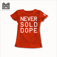 Never Sold Dope Women's Red T-Shirt
