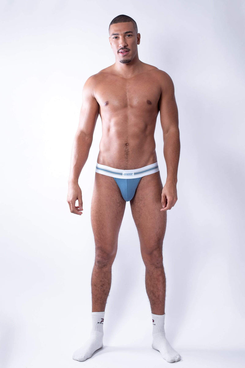 sexy-jockstrap-gay-underwear-mens-jock-Hustler Blue Jockstrap - Coyote Jocks Inc.