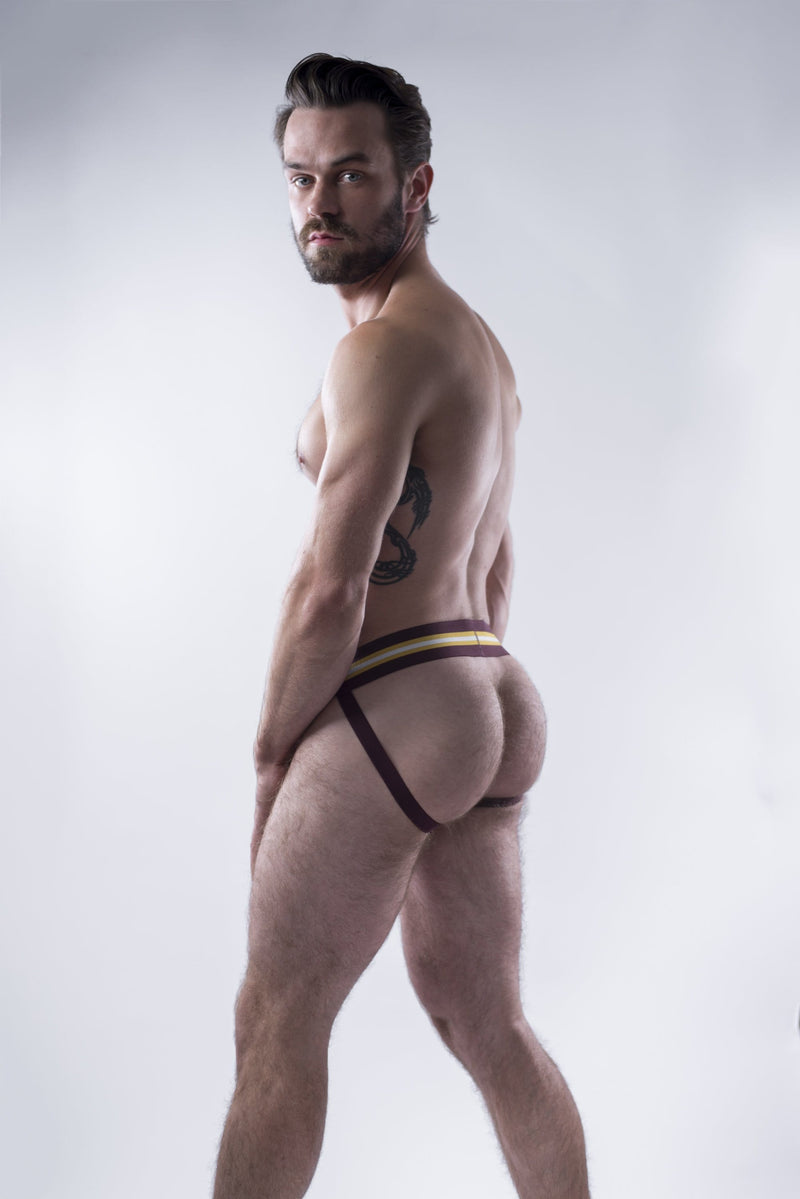 sexy-jockstrap-gay-underwear-mens-jock-Burgundy Jockstrap - Coyote Jocks Inc.