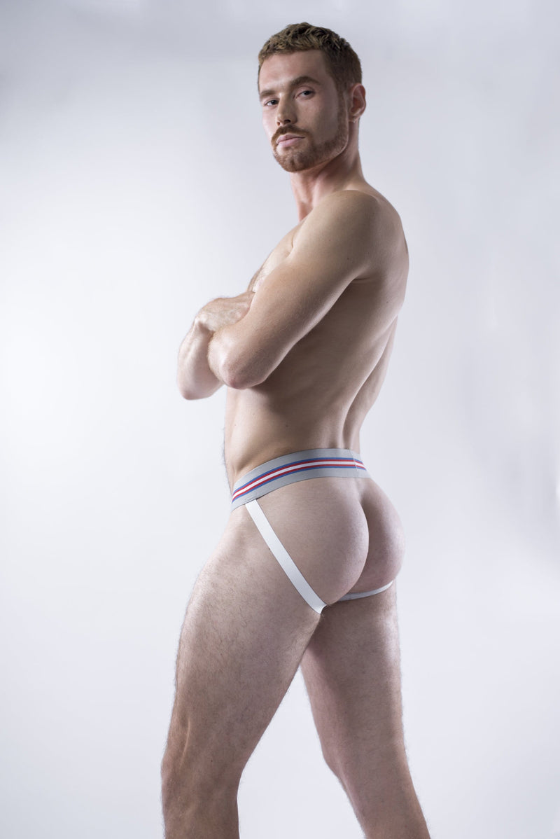 sexy-jockstrap-gay-underwear-mens-jock-Fresh White Jockstrap - Coyote Jocks Inc.