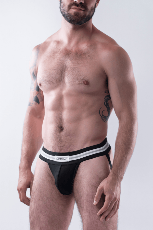 sexy-jockstrap-gay-underwear-mens-jock-Jet Black Jockstrap - Coyote Jocks Inc.