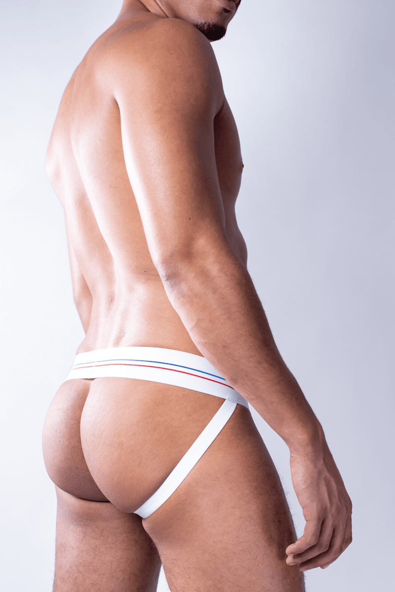sexy-jockstrap-gay-underwear-mens-jock-Super White Jockstrap - Coyote Jocks Inc.