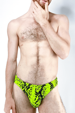 sexy-jockstrap-gay-underwear-mens-jock-Neon Viper Swim Brief - Coyote Jocks Inc.
