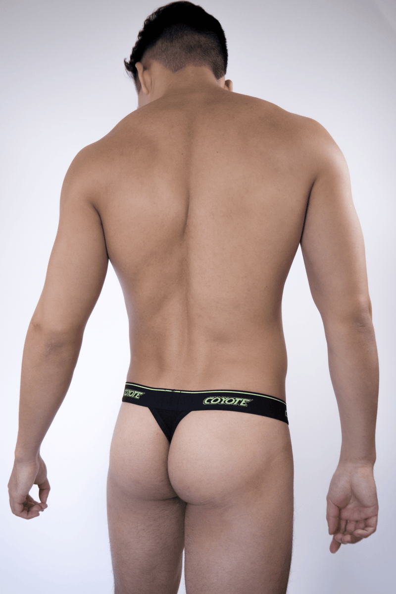 Black & Neon Thong - Coyote Jocks