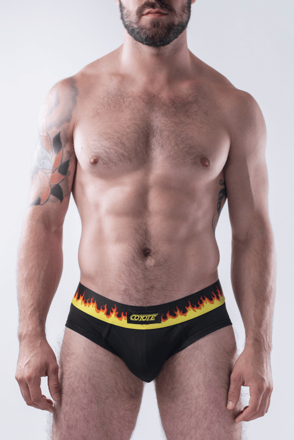 sexy-jockstrap-gay-underwear-mens-jock-Flame Brief - Coyote Jocks Inc.